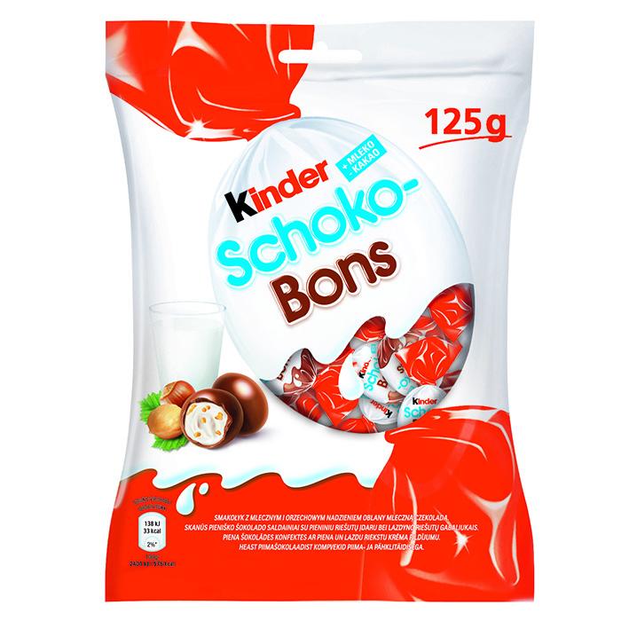 Konfektes KINDER SCHOKO-BONS,125g