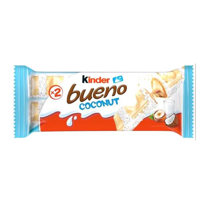 Batoniņš Kinder Bueno White ar kokosriekstiem