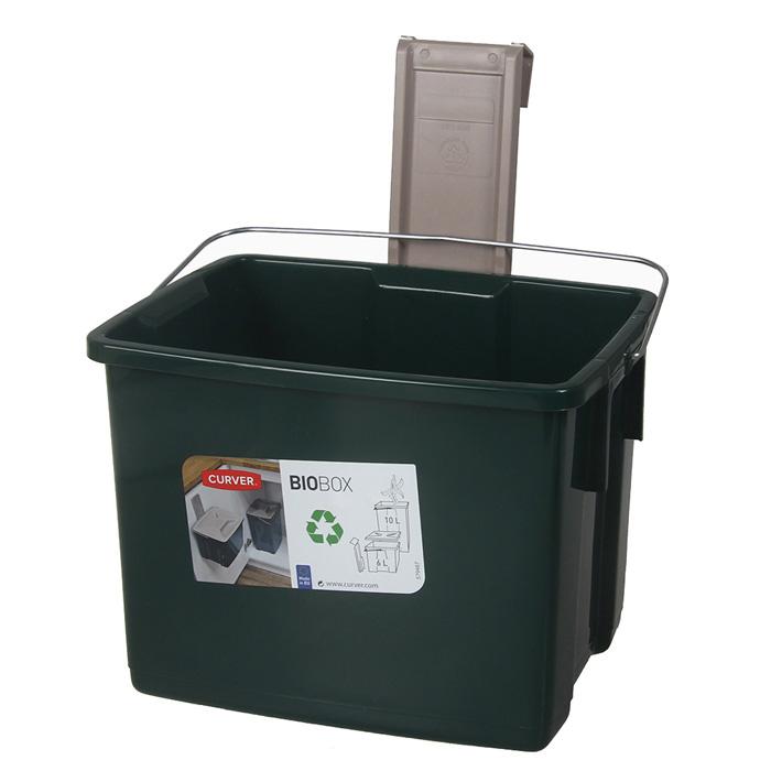 Atkritumu tvertne Biobox 6l zaļa