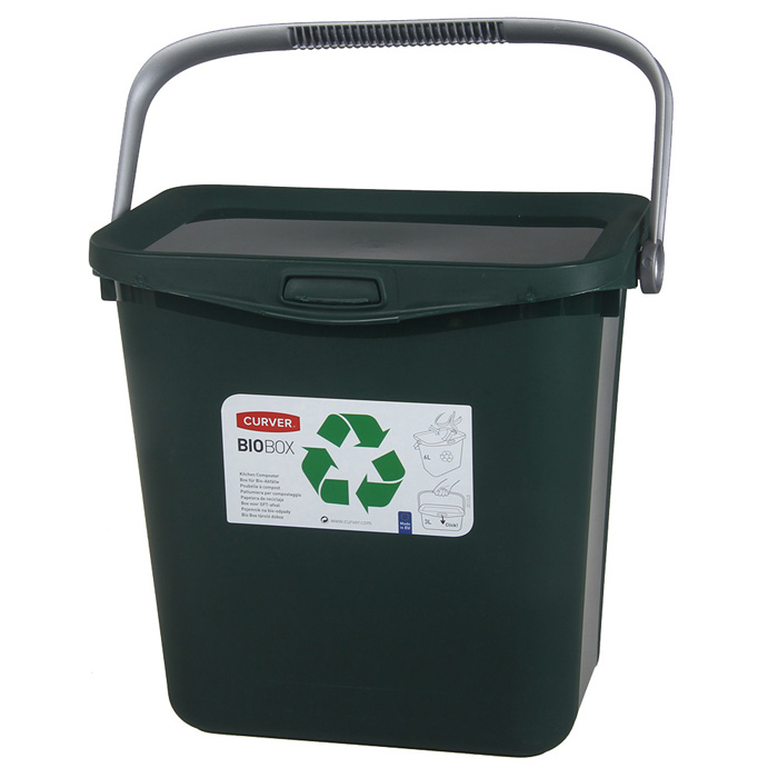 Atkritumu tvertne Multiboxx Bio 6l zaļa
