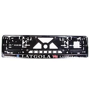 Auto numura turētājs plastm.melns Latgola