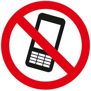 UzlīmeAizliegts lietot mobilo telefonu