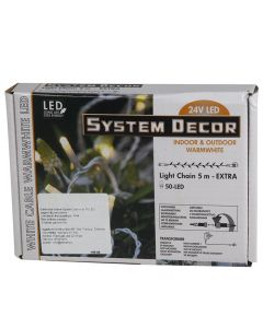 Elekt.virt.50LED SystemDecor silti balta (balts vads)
