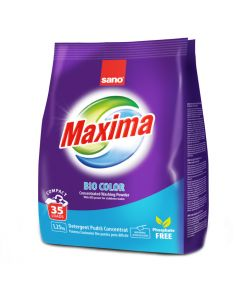 Veļas pulv.Maxima Bio Color 1.25kg 35MR