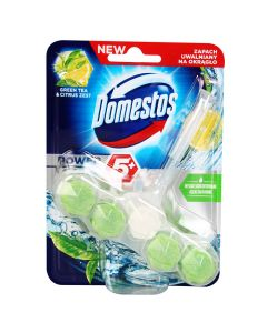 Tualetes bloks Domestos Power 5 Green tea&Lemon 55g