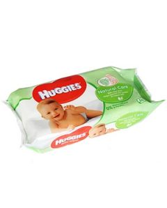 Mitrās salvetes Huggies Natural Care AloeVera 56gab.