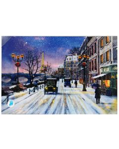 Glezna ar LED 40x60cm Paris scene