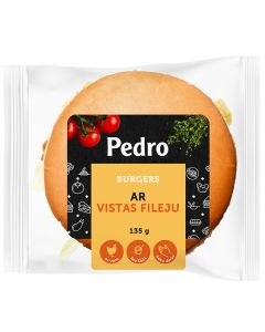 Burgeris ar vistas fileju Pedro 135g